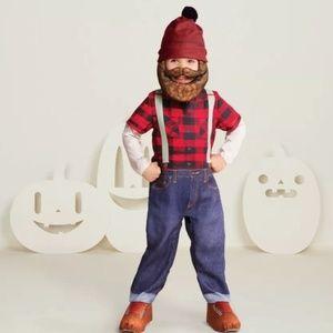 NEW Hyde & Eek Lumberjack Complete Costume  2-3T